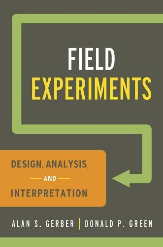 Field Experiments: Design, Analysis, and Interpretation by Gerber, Alan S., Green, Donald P.(May 29, 2012) Paperback