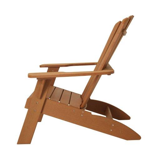 Amazon.com : Lifetime Faux Wood Adirondack Chair, Light Brown   60064 :  Patio, Lawn U0026 Garden