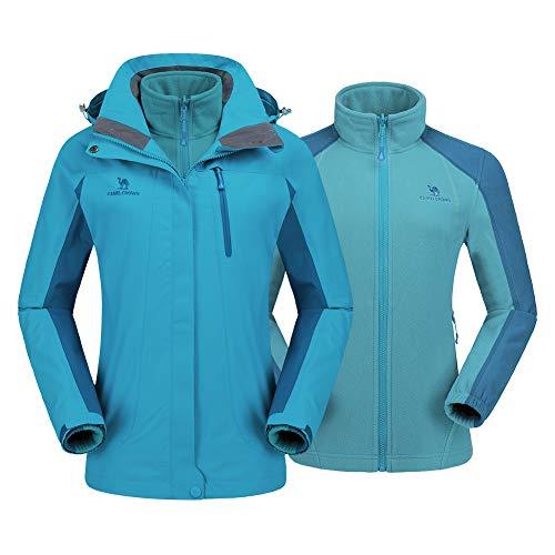 7a279861c1 CAMEL CROWN Women s Ski Jacket Winter Jacket Waterproof 3 in 1 Mountain  Coat Windproof Hooded with