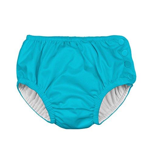 i play. Toddler Snap Reusable Absorbent Swim Diaper, Aqua, 4T