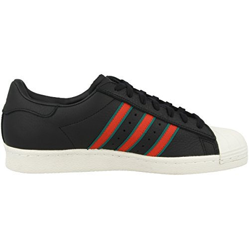 adidas Superstar 80s, Scarpe Sportive Uomo Nero (Negbas / Verde / Rojsld 000)