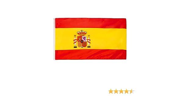 Bandera Brubaker de España, 150 x 90 cm, con ojales para izarla ...