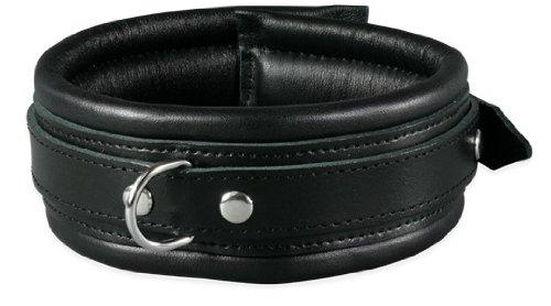 Bondage Erotik echt Leder Halsband gepolstert schwarz Studio Qualität