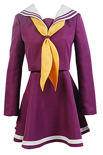 Ya-cos NO GAME NO LIFE Shiro Sailor Suit Cosplay Uniform (Sailor Suits For Men)