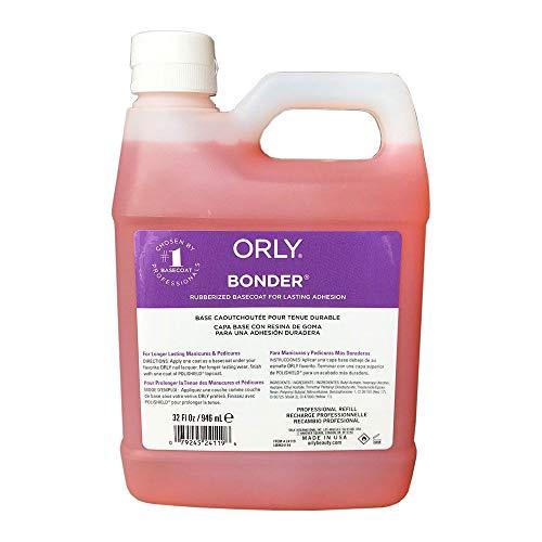City Color Nail Polish - Orly Bonder Rubberized Base Coat For Lasting Adhesion 32 oz