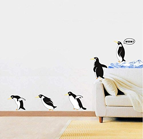- Wall Stickers Removable Decals Wall Decor Decorative for Children Kids Living Room​ (Penguin)