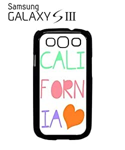 California Heart it Summer Mobile Cell Phone Case Samsung Galaxy S3 White