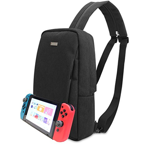 Cheap Nintendo Switch Backpack (Travel Bag) – Fits AC Charger, Pro Controller, Extra Joy-cons, iPhone, Power Bank, and Joy-con Grip – Compatible with 3DS/2DS – Multiple Ways to Carry