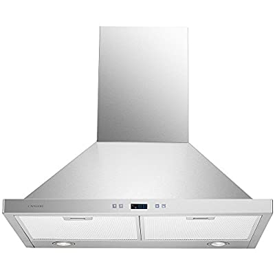 CAVALIERE SV218B2-30-LED Wall Mounted Stainless Steel Kitchen Range Hood, 900 CFM