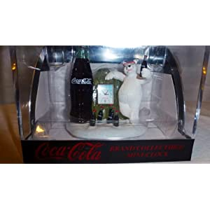 Coca Cola Mini Clock Polar Bear and Bottle