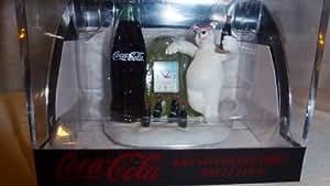 Coca Cola Mini Clock Polar Bear and Bottle