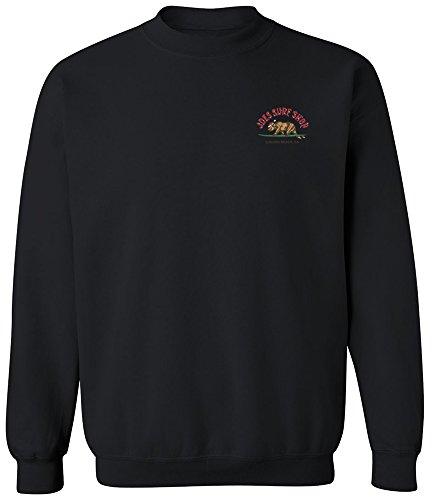 - Joe's Surf Shop Christmas Surfing Bear Crewneck Sweatshirt-XL-Black/c