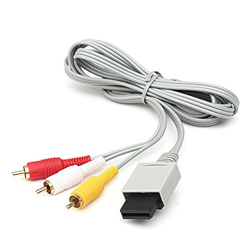 TraderPlus 6ft Composite Audio Video AV RCA Cable Cord for Nintendo Wii / Wii - Fit Cables Wii
