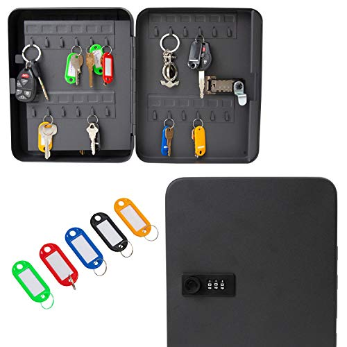 Houseables Key Lock Box, Lockbox Cabinet, Wall Mount Safe, 7.9