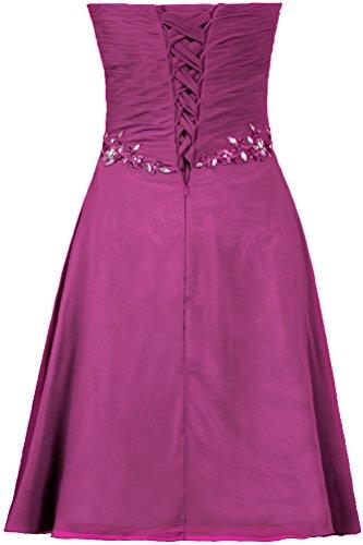 Short Cocktail Chiffon Prom Dress ANTS Strapless Party Gown Women's Maroon wYZqxwXCF