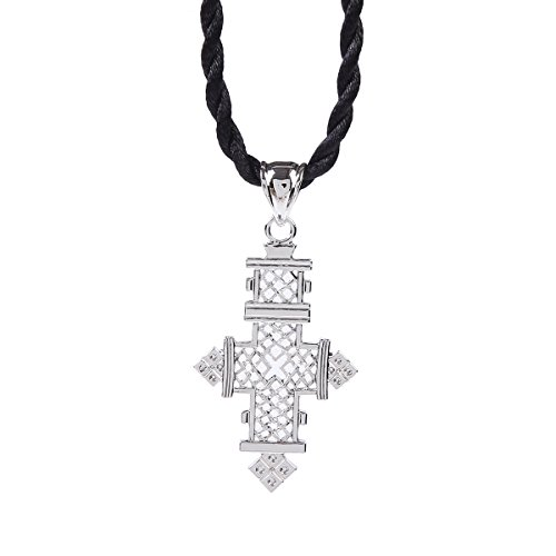 Ethiopian Cross Pendant Necklaces Chain Sliver Plated Jewelry (Best Ethiopian Orthodox Church Mezmur)