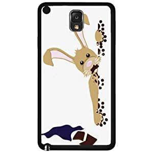 Easter Bunny Eating Chocolate Hard Snap on Phone Case (Note 3 III)