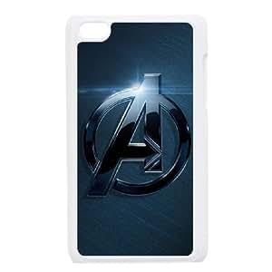 iPod Touch 4 Case White The Avengers Logo Unique Hard Phone Case Cover XPDSUNTR34559