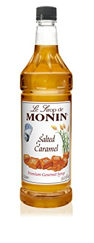 Monin Salted Caramel Syrup, 33.8-Ounce Plastic Bottle (1 Liter) (Caramel Monin)