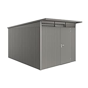 BioHort-Heavy-Duty-Avant-Garde-XX-Large-8x12-Single-Door-Metal-Shed-Quartz-Grey