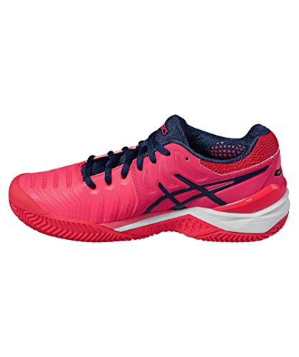 Asics Ladies Gel-resolution 7 Argilla Tennis Scarpe Rosa (315)