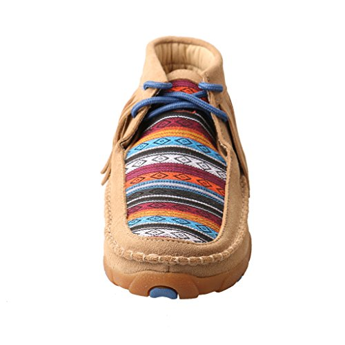Twisted X Women's Leather Lace-up Rubber Sole Driving Moccasins - Serape/Fringe by Twisted X (Image #2)
