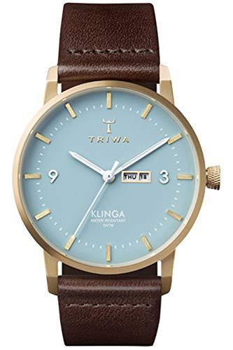 Triwa klinga Unisex Analog Japanese Quartz Watch with Leather Bracelet KLST106CL