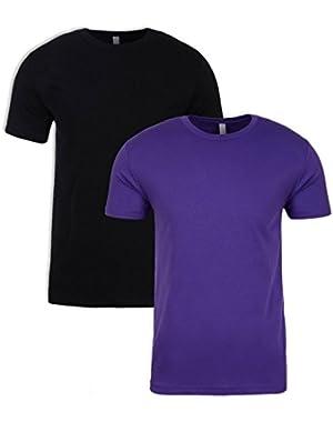 N6210 T-Shirt, Black + Purple Rush (2 Pack), Medium