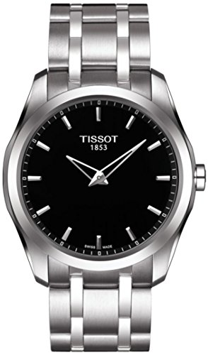 Black Face Swiss (Tissot Couturier Secret Date Watch - Perpetual Calendar LED Digital Display - Stainless Steel 39mm Black Face Swiss Made Quartz Watch with Gregorian and Chinese Calendars T035.446.11.051.01)