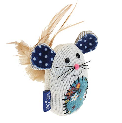 Tabby Chic Catnip Mouse Cat Toy, by Happy Pet