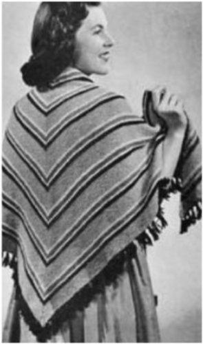 #1878 THREE CORNER SHAWL VINTAGE KNITTING PATTERN