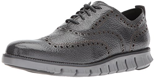 - Cole Haan Men's ZEROGRAND Oxford II, Gray Pinstripe Bubl Patent/Ironstone, 8 Medium US