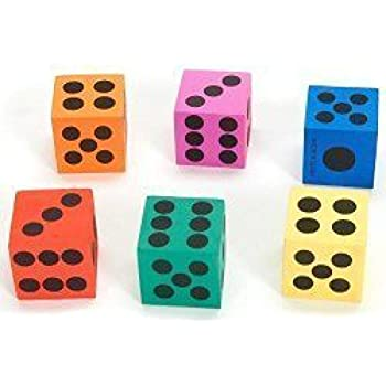 Big Foam Playing Dice (2-Pack of 12)