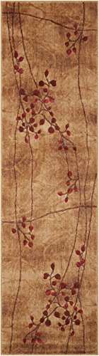 "Nourison Somerset (ST74) Latte Runner Area Rug, 2-Feet 3-Inches by 8-Feet  (2'3"" x 8')"