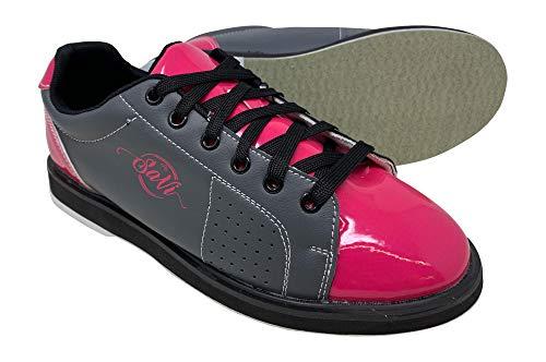SaVi Bowling Women's Classic Pink/Grey Bowling Shoes (6)
