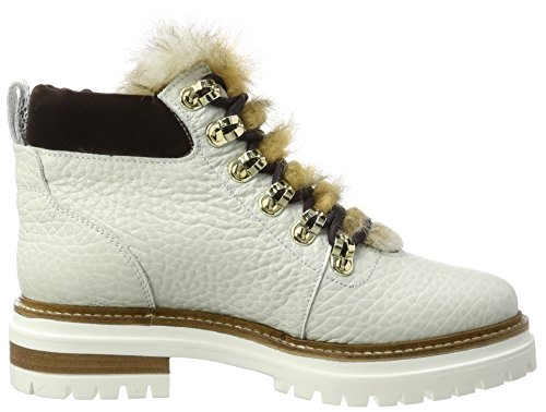 Stokton Dames Biker Boots Witte (bianco / Naturale)