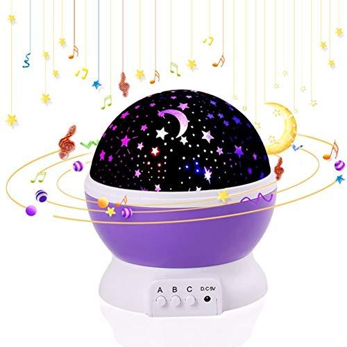 Starry Lámpara de computadora de luz nocturna con proyector LED giratorio, lámpara de estrella y...