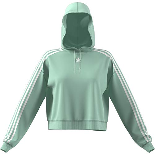 blush Hoodie Cropped À Green Capuche Green Sport shirt Vert Adidas Blush Femme Sweat z1dxw5Sq