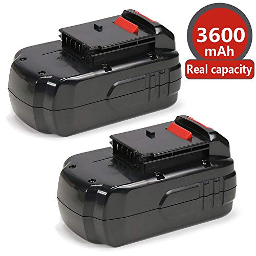 (Power-Ing 3.6Ah 18V Replacement Ni-Mh Battery for Porter Cable PC18B-2 PC188 PC18BL PCXMVC PCC489N PCMVC PC18BLEX 18-Volt Cordless Drill Tools Batteries 2 pack)
