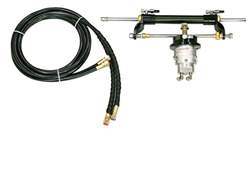 Outboard Steering - Woqi ZA0301 Outboard Hydraulic Steering Kit With Helm Pump, Hydraulic Cylinder and Tubing