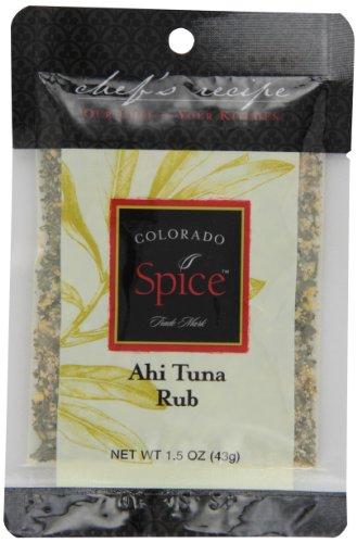 Colorado Spice Company, Seafood Spice, Ahi Tuna Rub, 1.5-Ounce Packet  (Pack of 12)