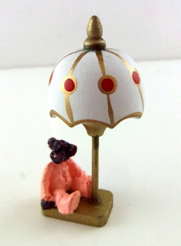 The Miniatures Co Dolls House 1:12 Miniature Nursery Accessory Non Working Teddy Bear Bedside Lamp from The Miniatures Co