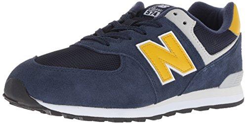 New Balance 574v1 Sneaker, Pigment, 6 M US Big Kid (Mens Pigment)