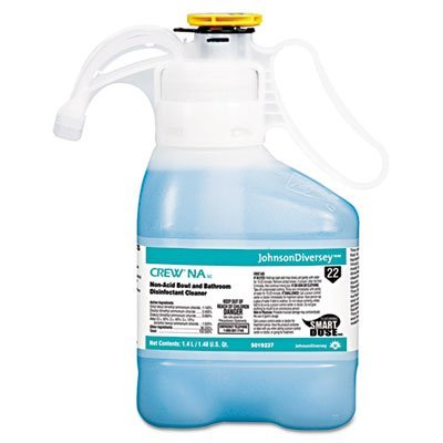Johnsondiversey Bathroom Cleaner (Crew Non-Acid Bowl & Bathroom Disinfectant Cleaner, Floral, 47.3oz, 2/Carton by Johnson Diversey)