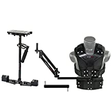 FLYCAM HD-5000 Camera Steadycam Stabilization System with Comfort Arm and Vest for DSLR Cameras upto 5kg | Table Clamp Quick Release Plate