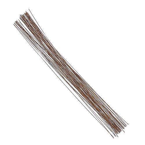 Decora 24 Gauge Brown Floral Wire 16 inch,50/Package (Wire Package)