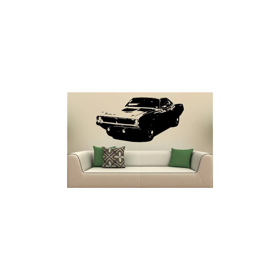 Wall Mural Vinyl Decal Stickers Car Plymouth Barracuda 1970 S2085