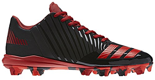 adidas Men's Freak X Carbon Mid Baseball Shoe, Core Black, Red, Power Red, 11 M US by adidas