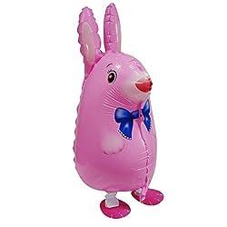 Walking Animal Balloon Airwalker Birthday Party Pet Balloon Kids Boys Toy Gift (Rabbit)