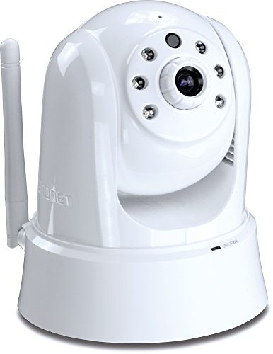 TRENDnet TV-IP862IC 720p HD Wireless Cloud Pan/Tilt/Zoom Surveillance Camera, 2-Way Audio, 25 Feet Night Vision, Free Mobile app for Android/Iphone support, microSD Card slot for convenient storage management, Easy setup, WPS one-touch setup